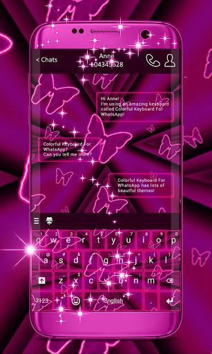 Pink Neon Keyboard