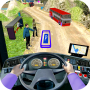 icon Modern Bus Drive Parking 3D