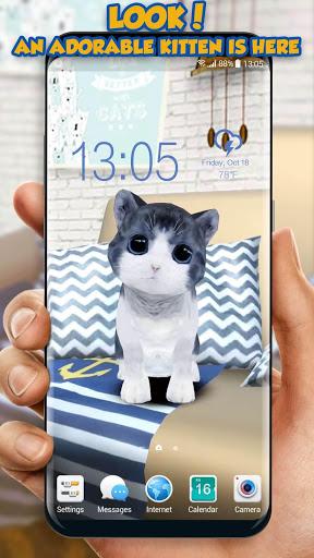 3D Cat Teaser Live Wallpaper