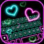 icon Neon Pop Hearts Keyboard Background