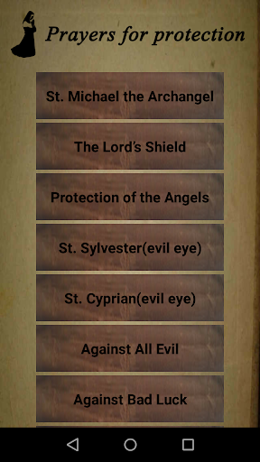 Prayers of protection