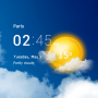icon Transparent clock & weather