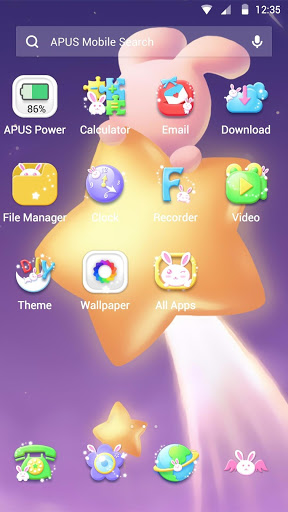 Cute-APUS Launcher theme