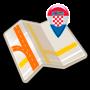 icon Map of Croatia offline