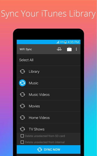 Download iSyncr: iTunes to Android for Oppo A57 - free