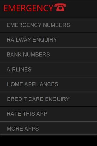 Emergency Numbers India